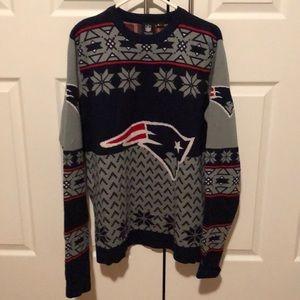 Patriots NFL winter sweater L